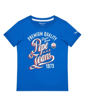 Pepe Jeans T-Shirt Jordan PB503148 Niebieski Regular Fit