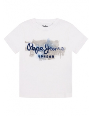 Pepe Jeans T-Shirt Golders PB501338 Biały Regular Fit