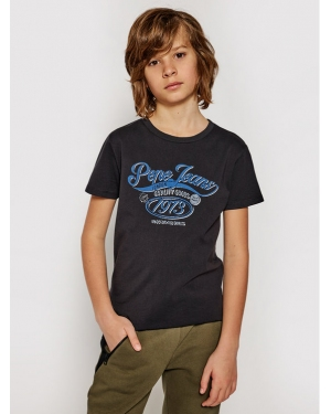 Pepe Jeans T-Shirt Oscar PB503030 Czarny Regular Fit