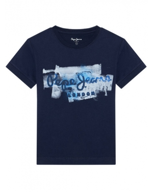 Pepe Jeans T-Shirt Golders Jk PB501338 Granatowy Regular Fit