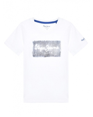 Pepe Jeans T-Shirt Jacob PB503145 Biały Regular Fit