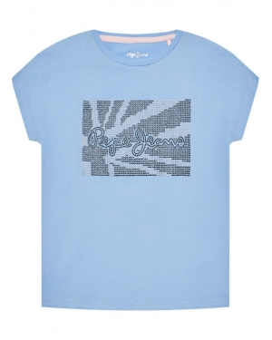 Pepe Jeans T-Shirt Noe PG502702 Niebieski Regular Fit