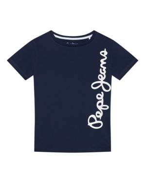 Pepe Jeans T-Shirt Waldo Short PB501279 Granatowy Regular Fit