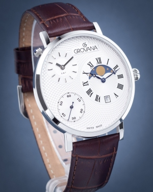 Zegarek męski Grovana Traditional Moonphase